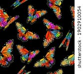 seamless background rainbow... | Shutterstock .eps vector #1902910054