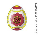 easter egg with a red flower.... | Shutterstock .eps vector #1902914971