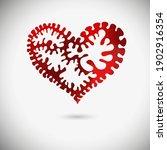 red beautiful heart. heart... | Shutterstock .eps vector #1902916354