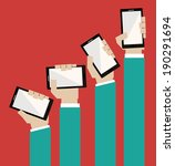 smartphone design over  red... | Shutterstock .eps vector #190291694