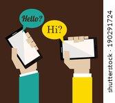 smartphone design over brown... | Shutterstock .eps vector #190291724