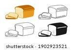 Bread Sliced Bakery Icon Set ...
