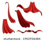 superhero red cape. scarlet... | Shutterstock .eps vector #1902936484
