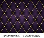 dark purple leather capitone... | Shutterstock . vector #1902960007