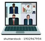 online virtual remote meetings  ... | Shutterstock .eps vector #1902967954