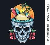 summer skull contains surf...   Shutterstock .eps vector #1902979657