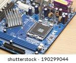 printed computer motherboard... | Shutterstock . vector #190299044