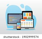bundle of electronic devices... | Shutterstock .eps vector #1902999574