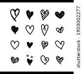 heart vector. set of love icon...   Shutterstock .eps vector #1903002277
