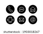 contact us icon set. website... | Shutterstock .eps vector #1903018267