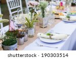 outdoor catering dinner at the... | Shutterstock . vector #190303514