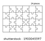 puzzles grid. jigsaw puzzle 24... | Shutterstock .eps vector #1903045597