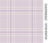 Plaid Pattern Glen In Soft...