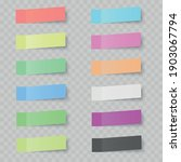 set of colorful sticky notes on ... | Shutterstock .eps vector #1903067794