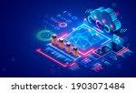 big data analysis  cloud... | Shutterstock .eps vector #1903071484