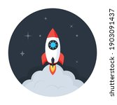 missile  rocket launcher icon... | Shutterstock .eps vector #1903091437