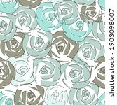 abstract rose seamless pattern... | Shutterstock . vector #1903098007