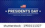 presidents day banner with... | Shutterstock .eps vector #1903111327