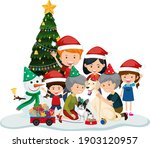 isolated happy family... | Shutterstock .eps vector #1903120957