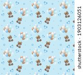 cute bear seamless pattern. can ... | Shutterstock .eps vector #1903126051
