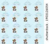 cute bear seamless pattern. can ... | Shutterstock .eps vector #1903126054