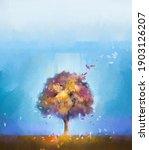 illustration colorful autumn... | Shutterstock . vector #1903126207