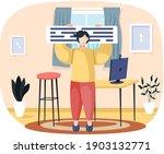 business smart working  online...   Shutterstock .eps vector #1903132771