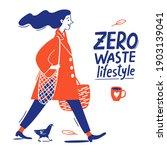 doodle style zero waste life... | Shutterstock .eps vector #1903139041