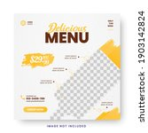 food menu banner social media... | Shutterstock .eps vector #1903142824