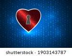 heart security keyhole...   Shutterstock .eps vector #1903143787