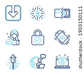 business icons set. included... | Shutterstock .eps vector #1903150111