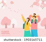 fresh spring landscape... | Shutterstock .eps vector #1903165711
