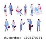 isomeric business people vector ...   Shutterstock .eps vector #1903170391