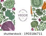hand drawn vintage color... | Shutterstock .eps vector #1903186711