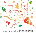 illustration of a red cracker... | Shutterstock .eps vector #1903195051