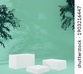 white cube product stand in...   Shutterstock . vector #1903216447