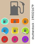 gas station fuel pump black...   Shutterstock .eps vector #190321679
