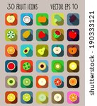 fruit icons. | Shutterstock .eps vector #190333121
