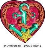 sea anchor and star  vector... | Shutterstock .eps vector #1903340041