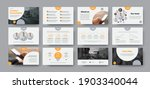 business slide vector template...