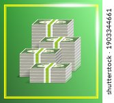3d economic green poster with... | Shutterstock .eps vector #1903344661