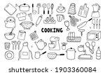 set of kitchen tools doodles....   Shutterstock .eps vector #1903360084