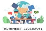 international negotiations ... | Shutterstock .eps vector #1903369051
