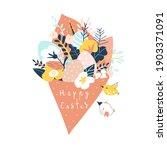 cute cartoon spring bouquet of... | Shutterstock .eps vector #1903371091