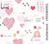 cute doodle style heart...   Shutterstock .eps vector #1903383901