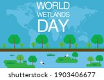 Wetland Day Vector Creative...