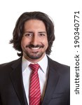 Stock photo passport picture of turkish businessman 190340771