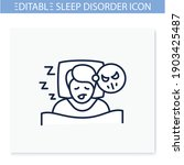 nightmares line icon. night... | Shutterstock .eps vector #1903425487