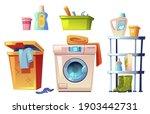 laundry equipment  bathroom... | Shutterstock .eps vector #1903442731
