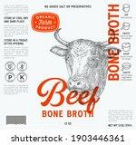 beef bone broth label template. ... | Shutterstock .eps vector #1903446361